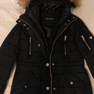 GUESS Women's Mason Hooded Puffer Jacket